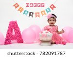 indian baby girl celebrate her... | Shutterstock . vector #782091787
