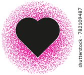 black and pink valentine.... | Shutterstock . vector #782109487
