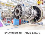 close up of airplane engine... | Shutterstock . vector #782112673