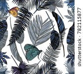 seamless pattern with tropical... | Shutterstock .eps vector #782115877