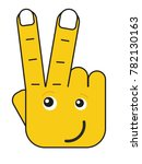 """victory"" hand illustration.... | Shutterstock .eps vector #782130163"