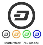 dash rounded icon. vector... | Shutterstock .eps vector #782136523