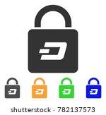 dash lock icon. vector... | Shutterstock .eps vector #782137573