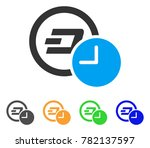 dash credit time icon. vector... | Shutterstock .eps vector #782137597