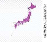 map japan map. each city and... | Shutterstock .eps vector #782142097