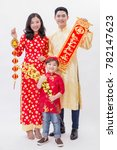 asian vietnamese family holding ... | Shutterstock . vector #782147623