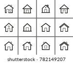 home vector icons set. black...   Shutterstock .eps vector #782149207