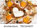flavouring concept. composition ... | Shutterstock . vector #782164657