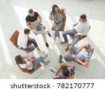 top view of business team...   Shutterstock . vector #782170777