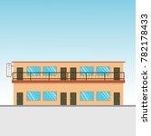 motel in the sky. motel 2... | Shutterstock .eps vector #782178433