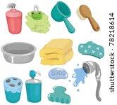 cartoon bathroom equipment icon ... | Shutterstock .eps vector #78218614