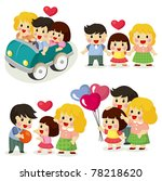 cartoon family icon set   Shutterstock .eps vector #78218620