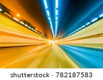 abstract car in the tunnel... | Shutterstock . vector #782187583