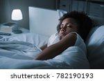 young african woman sleeping in ... | Shutterstock . vector #782190193