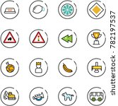 line vector icon set   taxi... | Shutterstock .eps vector #782197537