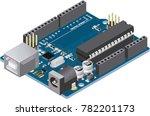 diy micro controller electronic ... | Shutterstock .eps vector #782201173