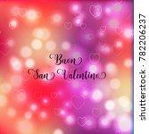 happy valentine's day italian... | Shutterstock .eps vector #782206237