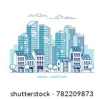urban landscape. city with... | Shutterstock .eps vector #782209873
