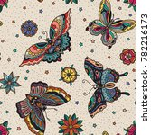 seamless pattern with colorful... | Shutterstock .eps vector #782216173