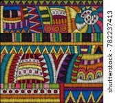 vector embroidery pattern.... | Shutterstock .eps vector #782237413