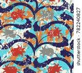 vector floral grunge pattern on ... | Shutterstock .eps vector #782240827