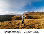 active young girl in a blue...   Shutterstock . vector #782240833
