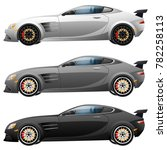 super car design concept.... | Shutterstock . vector #782258113