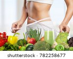 woman abdomen with measuring... | Shutterstock . vector #782258677