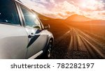 off road jeep car on bad gravel ... | Shutterstock . vector #782282197