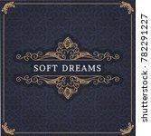 monogram creative card template ... | Shutterstock .eps vector #782291227