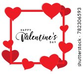 happy valentines day text box... | Shutterstock .eps vector #782306593