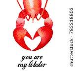 lobster character  happy... | Shutterstock . vector #782318803