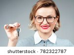 happy business woman or real... | Shutterstock . vector #782322787