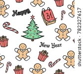 x mas new year seamless pattern.... | Shutterstock .eps vector #782327617