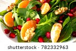 fresh salad with fruits and...   Shutterstock . vector #782332963