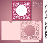 die laser cut wedding envelope... | Shutterstock .eps vector #782342893