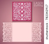 laser cut wedding invitation... | Shutterstock .eps vector #782342917