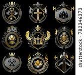 set of luxury heraldic... | Shutterstock . vector #782346373