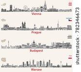 vector city skylines of vienna  ... | Shutterstock .eps vector #782346673