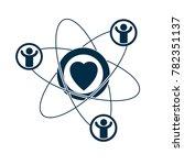 social relations conceptual... | Shutterstock . vector #782351137