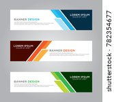 abstract modern banner... | Shutterstock .eps vector #782354677