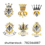 royal symbols lily flowers ... | Shutterstock . vector #782366887