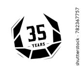 35 years design template.... | Shutterstock .eps vector #782367757