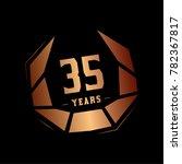 35 years design template.... | Shutterstock .eps vector #782367817