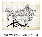 rome illustration. hand drawn...   Shutterstock .eps vector #782369323
