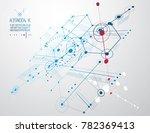 technical plan  abstract... | Shutterstock . vector #782369413
