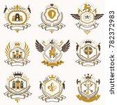 classy heraldic coat of arms.... | Shutterstock . vector #782372983