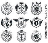 classy emblems  heraldic coat... | Shutterstock . vector #782373193