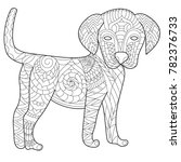 dog anti stress vector coloring ... | Shutterstock .eps vector #782376733