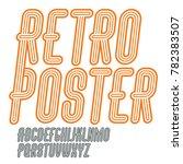 retro vintage capital english... | Shutterstock . vector #782383507
